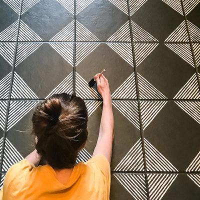 Tile Floor Stencil